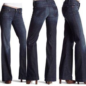 7 for all Mankind Dark Wash DOJO jeans 29